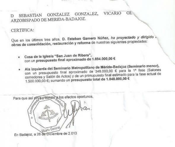 obras arzobispado Badajoz 2014