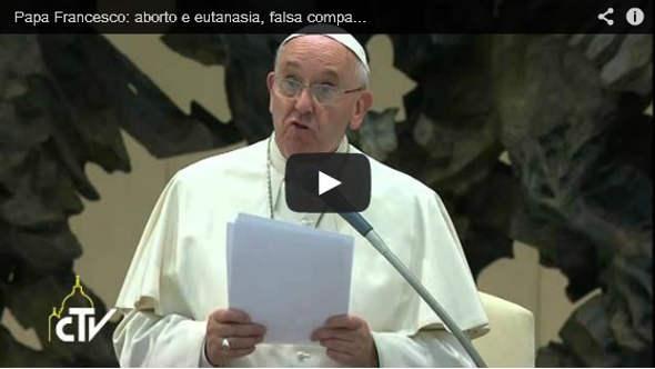 Bergoglio aborto y eutanasia