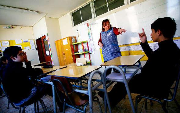 Aula escolar Chile
