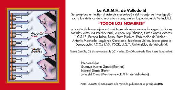 Todos los nombres Valladolid 2014