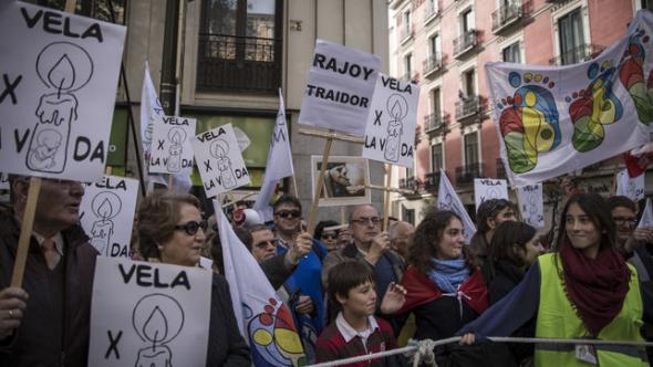 mani antiaborto Madrid 2014