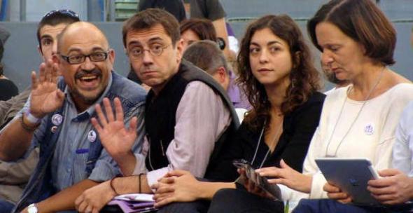 Aguilar Montero con Monedero Asamblea Podemos 2014