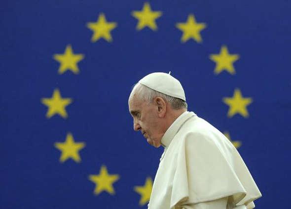 Bergoglio en el Parlamento Europeo