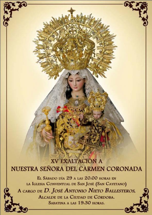 alcalde Córdoba exalta virgen del Carmen 2014