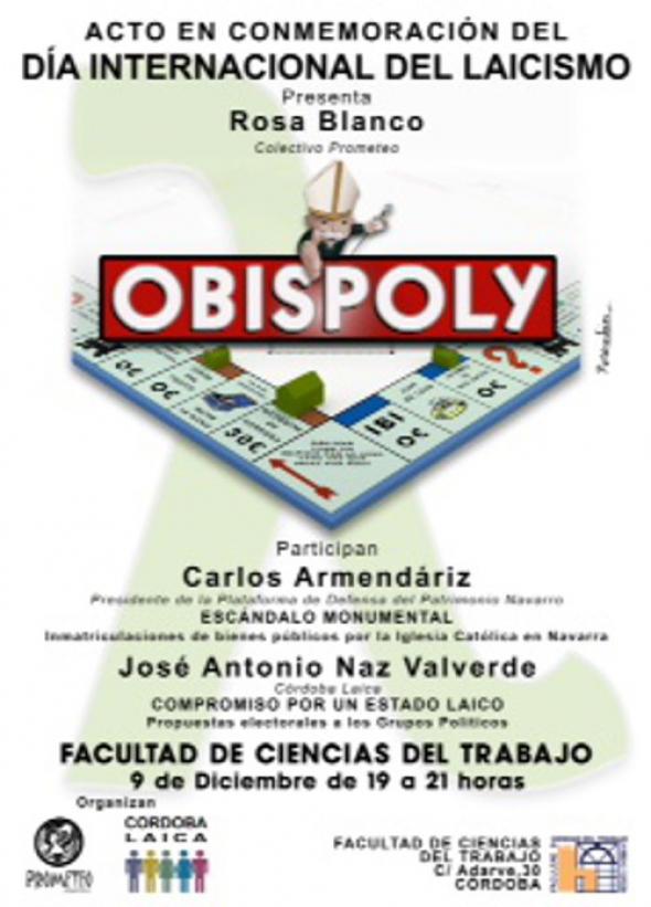 Cartel Córdoba Laica Día Laicismo 2014
