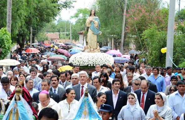 autoridades Salta_Argentina procesión Inmaculada