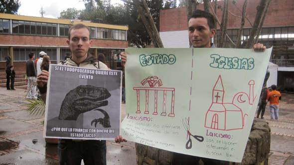Protesta gospel Bogotá