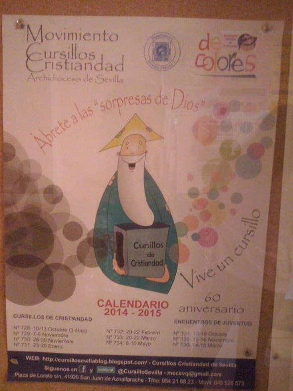 cartel en la Pablo Olavide