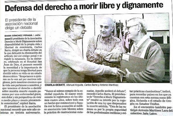 charla muerte digna en Jaén 2014