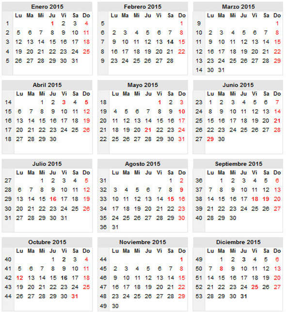 calendario chile