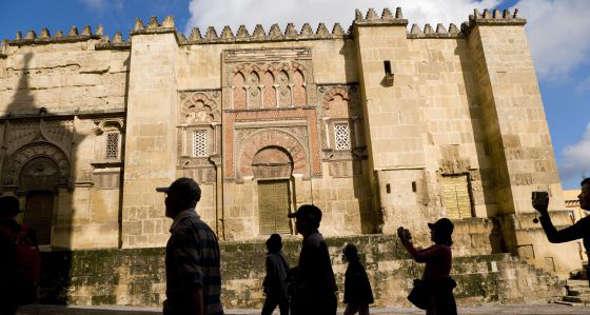 Mezquita de Córdoba turistas exterior 2014
