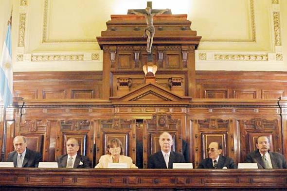 crucifijo Corte Suprema Argentina