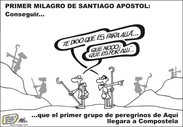 Viñeta de FORGES: Primer milagro de Santiago apostol