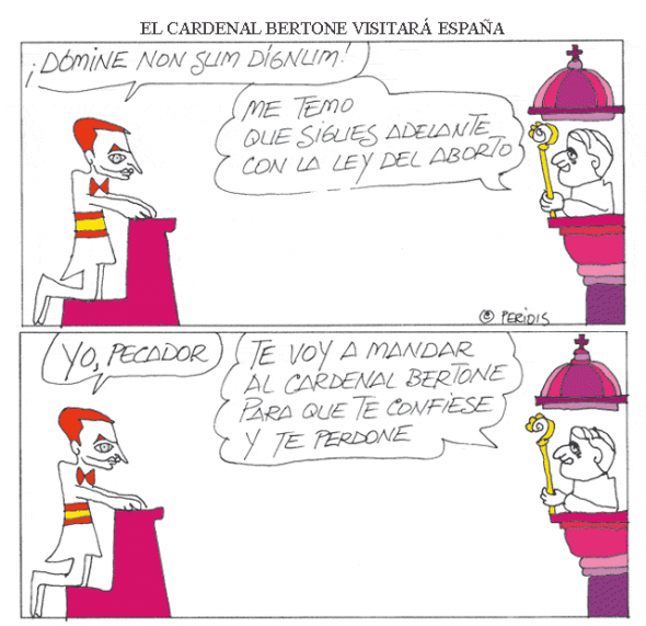 El cardenal Bertone en España