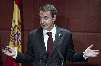 El presidente del Gobierno, José Luis Rodríguez Zapatero, durante la rueda de prensa que ofreció en el transcurso de su visita de hoy a la Exposición Universal de Shanghai. EFE/