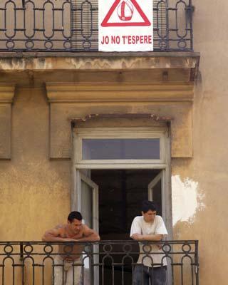 Cartel contra la visita del Papa a Valencia en 2006.AFP