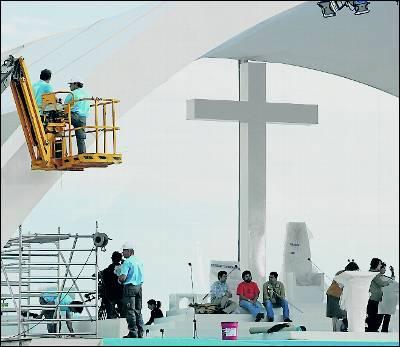 Organización de la última visita del Papa a Lisboa.afp