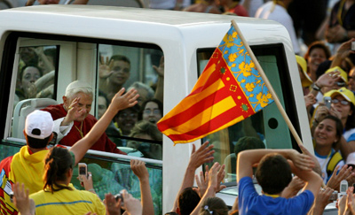 Benedicto XVI ya visitó Valencia en el año 2006. - AFP