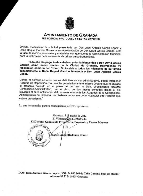 El Ayuntamiento De Granada Pp Se Niega A Realizar Actos De