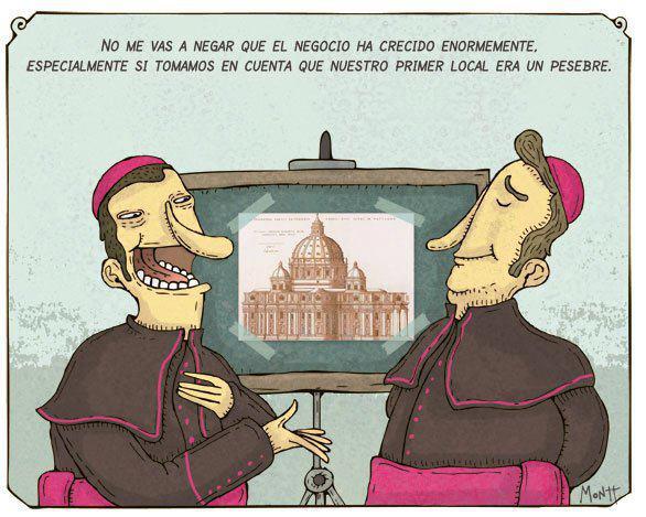 Resultado de imagen para la iglesia negocia