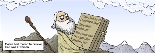 Moisés siempre supo que dios era una mujer