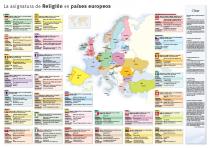 Mapa de la enseñanza de religión en Europa