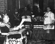 Franco orden de Cristo - Cardenal Pla 1954