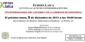Día Laicismo Madrid 2013