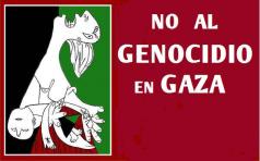 No al genocidio Gaza 2014