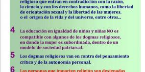 Cartel razones NO religión castellano