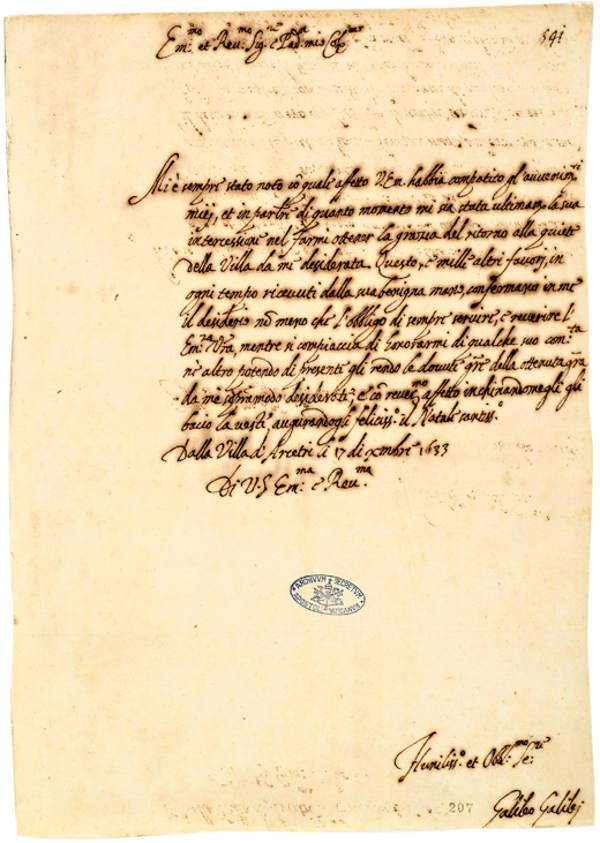 actas proceso contra Galileo
