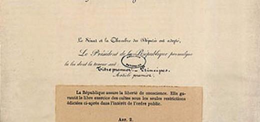 Ley 1905 separa iglesia estado Francia