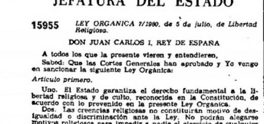 ley libertad religiosa 1980