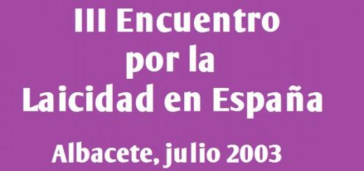 III encuentro laicidad 2003