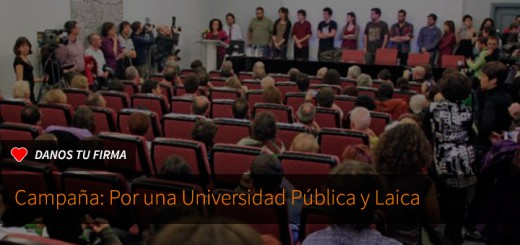 Firma por una universidad pública y laica