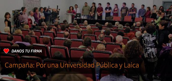 Firma por una universidad pública y laica