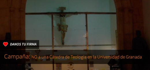 Firma contra la cátedra de teología en la Universidad de Granada