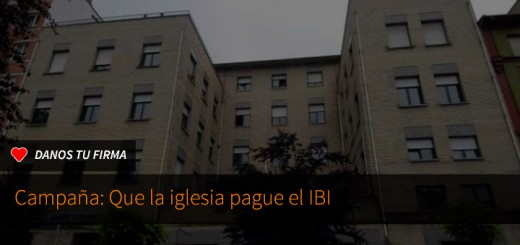 Firma: que la iglesia pague el IBI