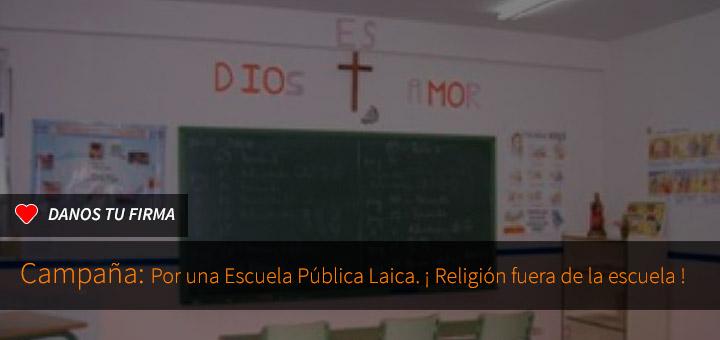 Firma por una escuela pública laica