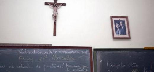 crucifijo aula CEIP Macias Picavea Valladolid