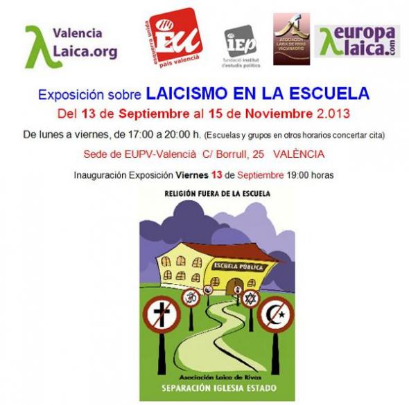 Exposicion laicismo y escuela en Valencia