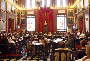 salon plenos ayuntamiento Palma crucifijo 2015