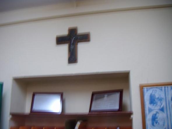 crucifijo CEIP NS Mercedes La Linea