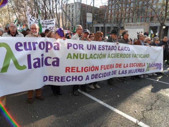 marcha dignidad Europa Laica 2014