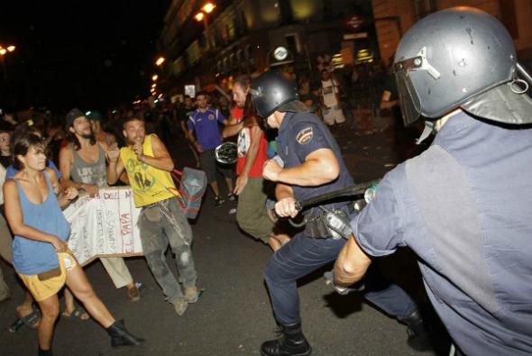 agresiones policia mani visita Ratzinger Madrid 2011