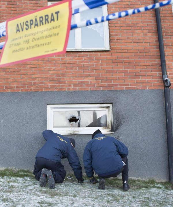 Incendio en una mezquita al sur de Suecia. EFE