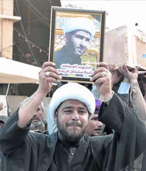 Miembros de la milicia chiíta de Imam Abbas, el pasado viernes.
