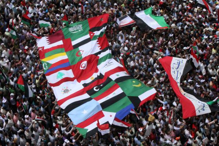 """Manifestaciones durante la llamada """"primavera árabe""""."""