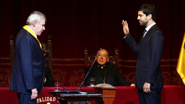 Cardenal Cipriani en la jura alcalde de Lima 2015