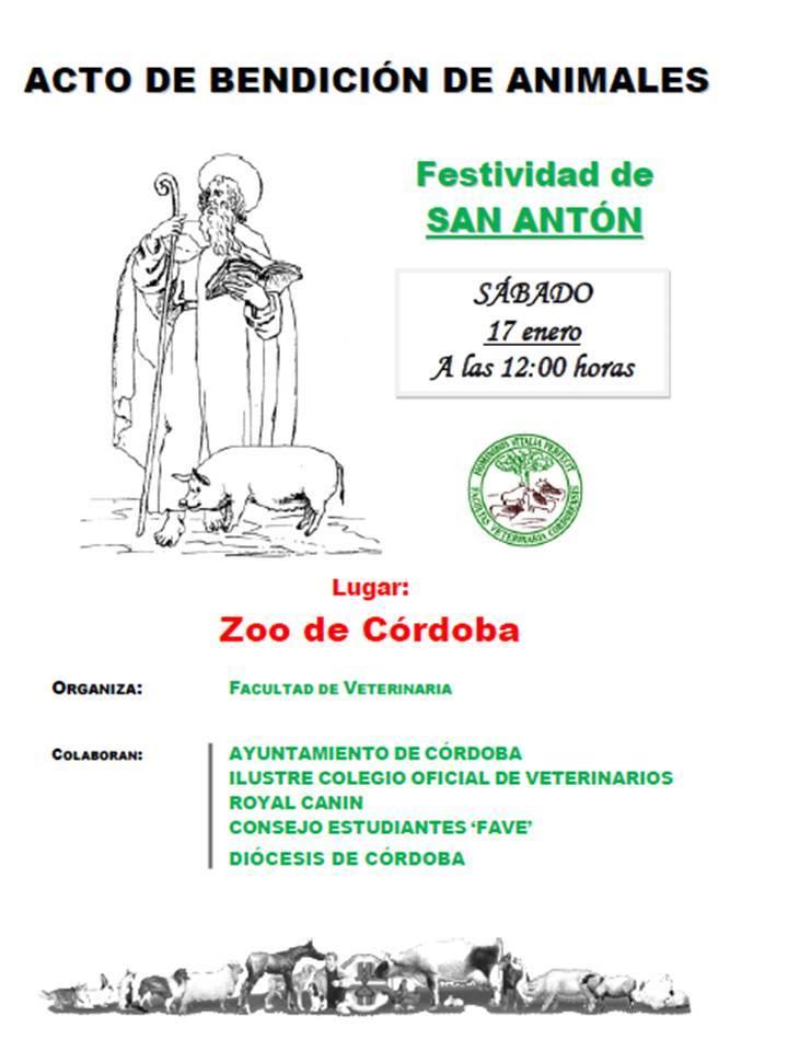 Cartel bendicion animales Cordoba 2015